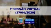 Câmara Municipal de Barras realizará primeira sessão virtual para evitar contágio do coronavírus